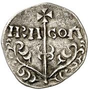 Dinero Sanche V buste primitif à droite – revers