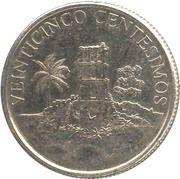 25 centésimos (ruines de Panamá Viejo) – avers