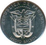 ½ balboa (Casas reales) – avers
