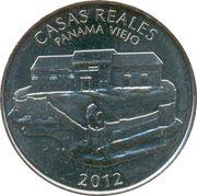 ½ balboa (Casas reales) – revers