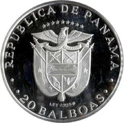 20 balboas (Vasco Nunez de Balboa) – avers