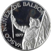 20 balboas (Vasco Nunez de Balboa) – revers