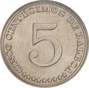 5 centésimos – revers
