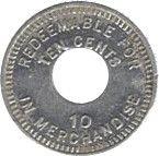10 cents (Leprosarium de Palo Seco) – revers