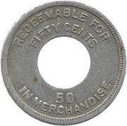 50 cents (Leprosarium de Palo Seco) – revers