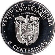 5 centésimos (75ème anniversaire) – avers
