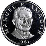 10 centésimos (Amador) – revers