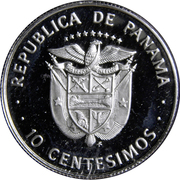 10 centésimos (Amador) – avers