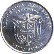 ½ balboa (Centenaire du canal de Panamá) – avers