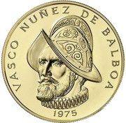 100 balboas (Vasco Núñez de Balboa) – revers