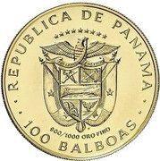 100 balboas (Vasco Núñez de Balboa) – avers
