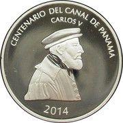 ½ balboa (Centenaire du Canal de Panama) – revers