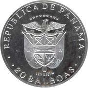 20 balboas (150ème anniversaire de l'indépendance) – avers