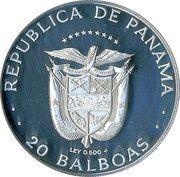 20 balboas (Découvreur du Pacifique) – avers