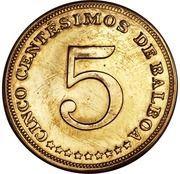5 centesimos (Piéfort) – avers
