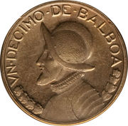 1/10 balboa (Piéfort) – revers