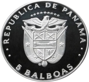 5 balboas (Football 1982) – avers