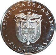 20 Balboas (Simon Bolivar) – avers