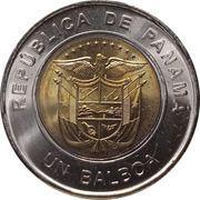 1 balboa (Centenaire de la croix rouge panaméenne, colorisée) – avers