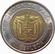 1 balboa (Centenaire de la Croix-Rouge panaméenne, colorisée) – avers