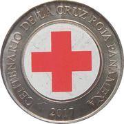 1 balboa (Centenaire de la Croix-Rouge panaméenne, colorisée) – revers