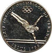 1 Balboa (1988 Summer Olympics Seoul - Gymnastics) – revers
