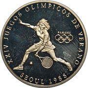1 Balboa (1988 Summer Olympics Seoul - Tennis) – revers