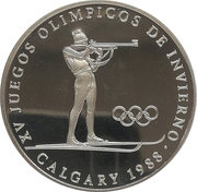 1 balboa (Jeux olympiques d'hiver Calgary 1988 - Biathlon) – revers