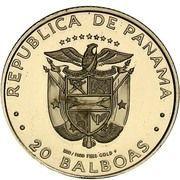 20 balboas (Papillon Double 8) – avers