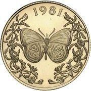20 balboas (Papillon Double 8) – revers