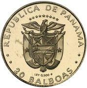 20 balboas (Colibri) – avers