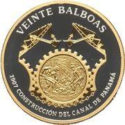 20 Balboas (Construction of the Panama Canal) – revers
