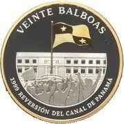 20 Balboas (Reversion of the Panama Canal) – revers