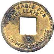 5 cents (Leprosarium de Palo Seco) – revers
