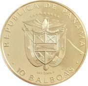 10 balboas (Traité du canal de Panamá) – avers