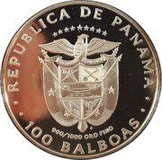 100 balboas (Art précolombien cóndor dorado) – avers