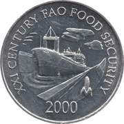 1 centésimo (FAO) – avers