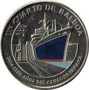¼ balboa (Centenaire du Canal de Panama) – revers