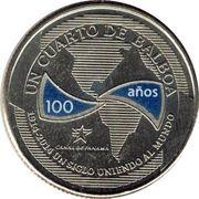 ¼ balboa (100ème anniversaire du canal de Panama) -  avers