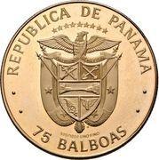 75 balboas (Anniversaire de l'indépendance) – avers