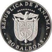 20 balboas (Simon Bolivar) -  revers