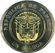 1 Balboa, Centenary of the Panamanian Red Cross, Colored -  avers