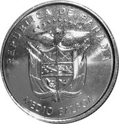 1/2 balboa (500 ans de la fondation de la ville de Panama) – avers