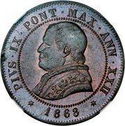 4 soldi / 20 centesimi - Pius IX – avers