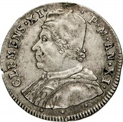 1 testone - Clement XI – avers
