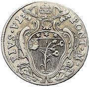 20 bolognini - Pius VI – avers