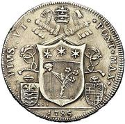 50 bolognini - Pius VI -  avers
