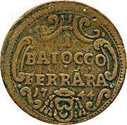 1 baiocco Benedict XIV – revers
