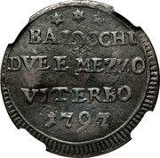 2 ½ Baiocchi – revers