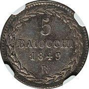 5 baiocchi - Pius IX – revers